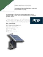 Suministro de Energía Paras Repetidores Con Panel Solar