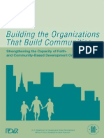 Building the Organizations That Build Communities