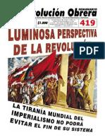 Semanario Revolución Obrera Ed. 419