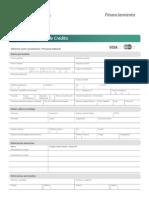 Planilla de Solicitud TDC  Banco Venezolano de Credito -Notilogia