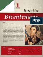 Boletín Bicentenario N° 1