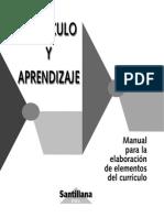 Manual Para La Elaboración Del Curriculo