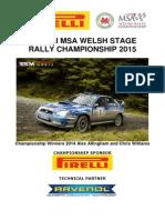 Pirelli MSA Welsh Stage Rally Championship Regulation Booklet