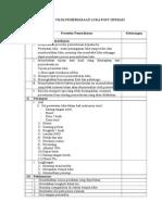 Daftar Tilik Pemeriksaan Luka Post Operasi