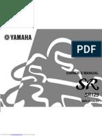 Yamaha SR125 3mw owners manual