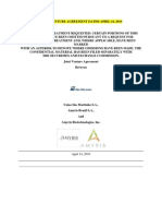Amaris Joint Venture Agmt