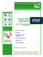 Dieta Para Las Hemorroides o Almorranas