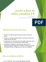 Introducción a Base de Datos y Modelos E-R