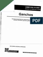 ASME B30.10-2005. - Ganchos.
