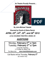 godspell audition packet 1-13-15