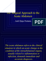 Surgical Approach of Acute Abdomen