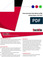 China Automated Teller Machine (ATM) Industry Report, 2014-2018