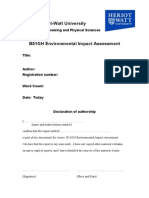EIA Front Cover and Declaration Form