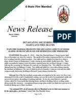 2014 12 31 Statewide December Fire Deaths