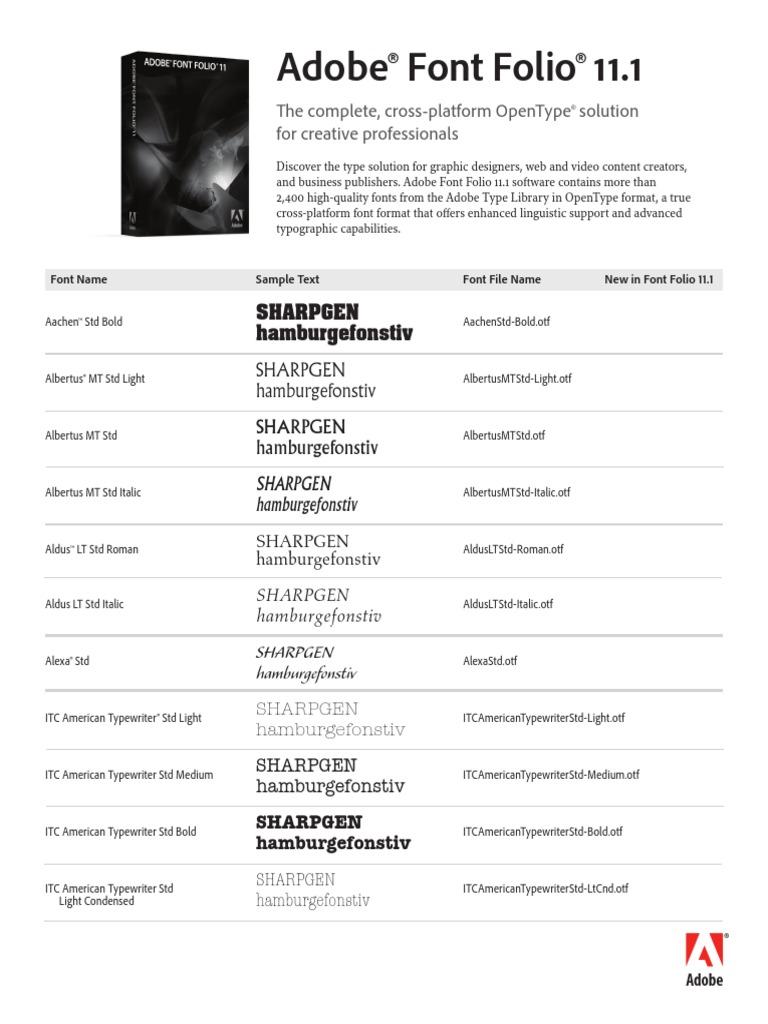 Fontfolio11 1 Font List   Typefaces   Communication Design