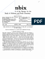 1949 STAPLETON, LEWIS, TAYLOR the Sayings of Hermes Quoted in Teh Ma' Al-waraqi of Ibn Umail