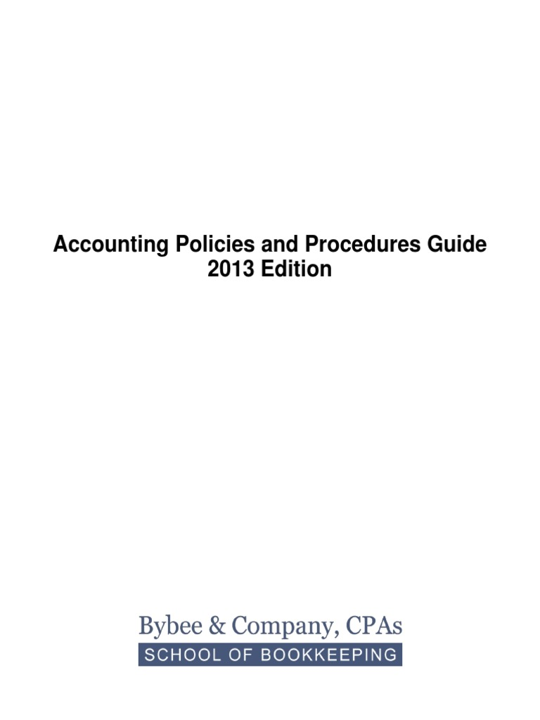 Accounting Policies and Procedures Guide (1) | Debits And Credits ...