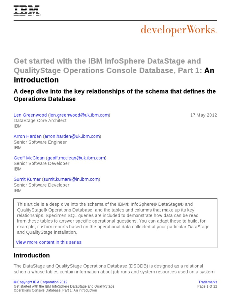 Dm 1205datastageopsdb1 pdf table database ibm db2 baditri Images