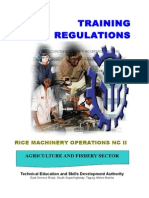 TR Rice Machinery Operations NC II