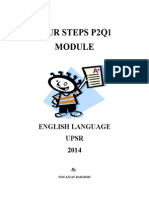 Four Steps To Sentence Construction- UPSR