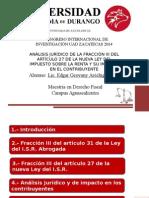 Análisis jurídico Nueva Ley del ISR México