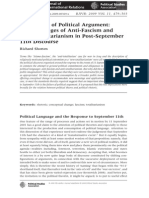 The British Journal of Politics _ International Relations Volume 11 Issue 3 2009 [Doi 10.1111_j.1467-856x.2009.00369.x] Richard Shorten -- The Failure of Political Argument- The Languages of Anti-Fascism and Anti-Totalitarianism in Post-Septe