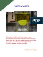 Experimento aceite y agua III