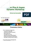 Aspen Plus & Dynamic Workshop (Step by Step)