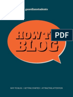 How to Blog by Guardian Students