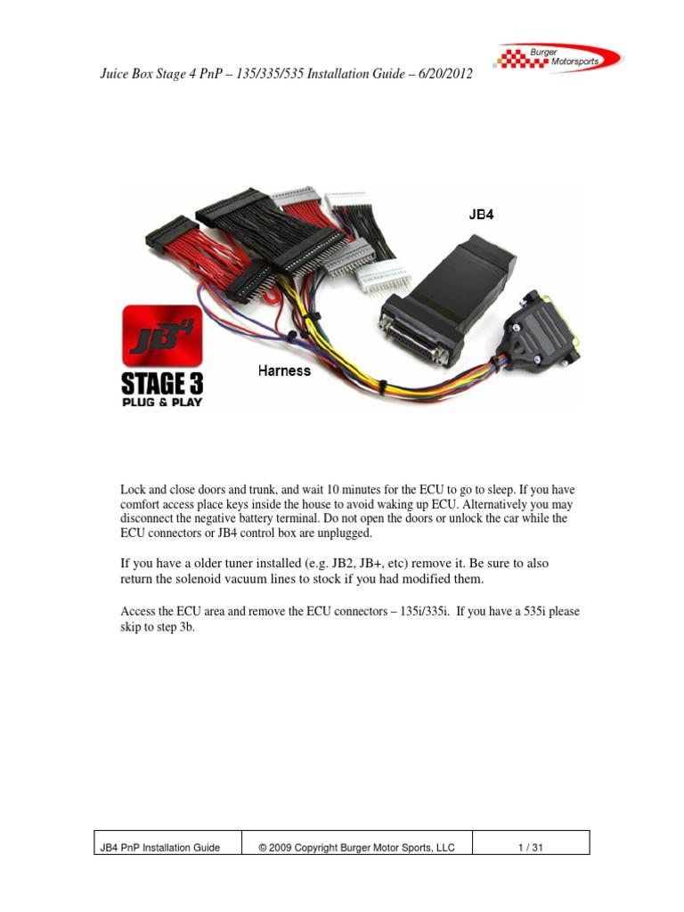 BMW N54 JB4 PnP | Electrical Connector | Mechanical Engineering