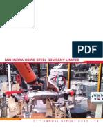 Annual Report 2013 2014 Mahindra Ugine