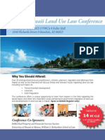 2015 Hawaii Land Use Conference Complete Agenda & Faculty