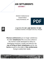 Introduction to Human Settlements and Urban Form Determinants