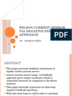 Wilson Current Mirror via Negative Feedback Approach
