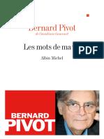 Les Mots de Ma Vie - Bernard Pivot