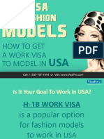 H-1B Visa Requirements For Fashion Models in USA