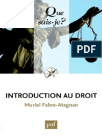 Introduction Au Droit - Fabre-Magnan Muriel
