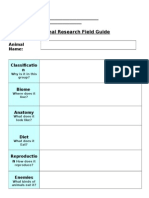 Animal Research Field Guide
