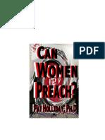 Can Women Preach