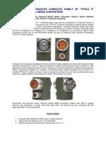 Protokraft Introduces Maverick Series TFOCA II Media Converters