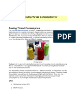 Calculation of Sewing Thread Consumption for Garments