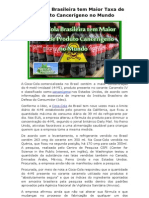 Coca Cola Brasileira Tem Maior Taxa de Produto Cancerígeno No Mundo