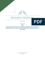 Research Proposal (M04EKM)- Syed Shah Areeb Hussain - 0541198