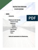 Infraestructura Ferroviaria de AVE