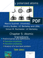 Optically Polarized Atoms Atomic Transitions