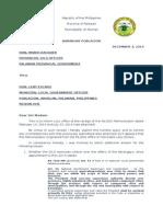 Letter Dilg
