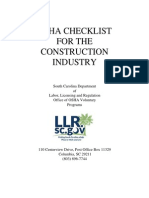 Construction Check List