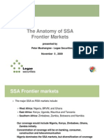 SSA Frontier Markets_Nov 5 2009]