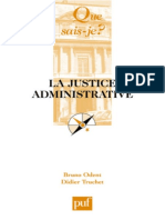 La Justice Administrative - Didier Truchet, Bruno Odent