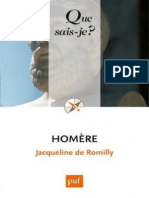 Homere - De Romilly Jacqueline